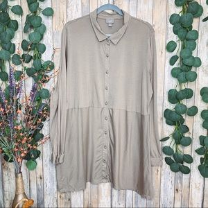 J Jill Pima Cotton Modal Button Front Tunic